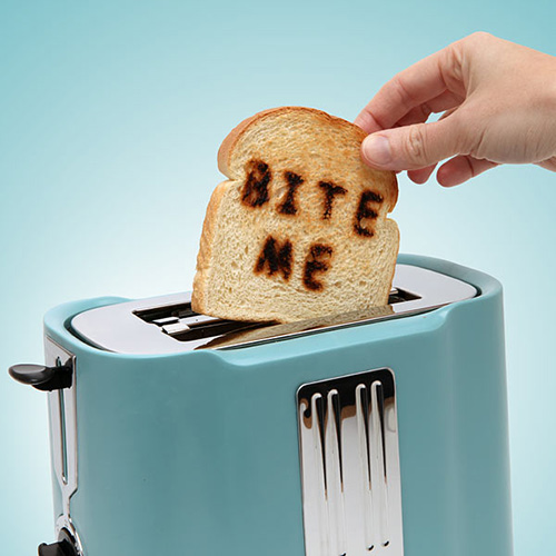 Bite Me Toast - Pop Art Toaster