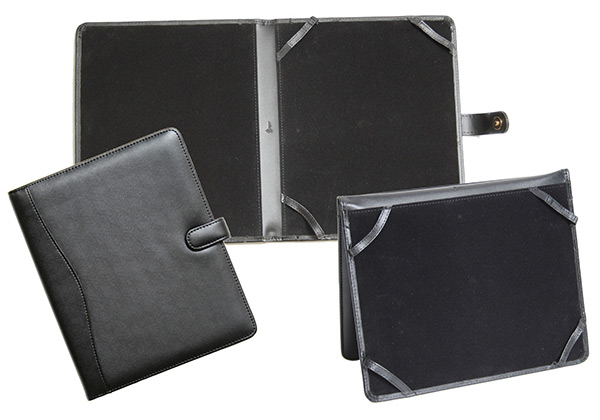 Black Leather iPad Folio Case