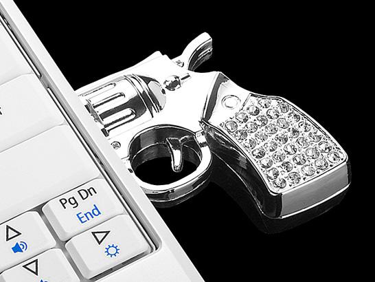 Famous Jewel Gun USB Flash Drive DZ57