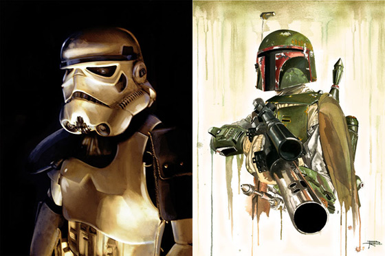 Bob Fett and Stormtrooper Artwork