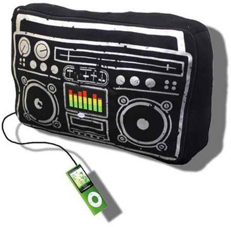 Boombox Speakers and Cushion