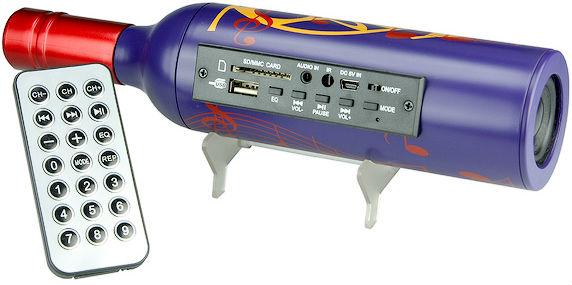 USB Wine Bottle Speaker with Radio