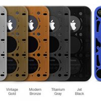 Brushed Aluminum Gasket iPhone 4 Cases