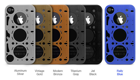 Brushed Aluminum Gasket iPhone 4 Cases