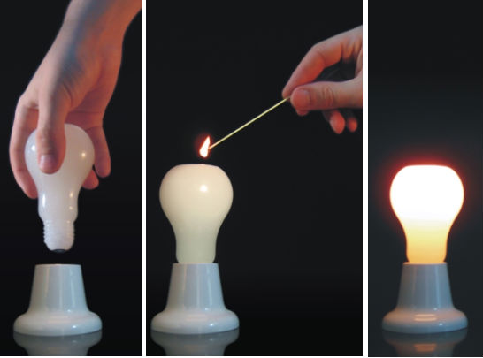 Light Bulb Candle