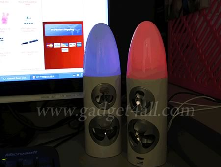 USB Bullet-like LED Speakes