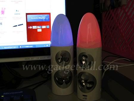 USB Bullet-like LED Speakes