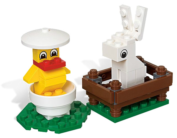 Bunny and Chick Easter LEGO Set