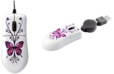 Travel Butterfly Computer Mouse