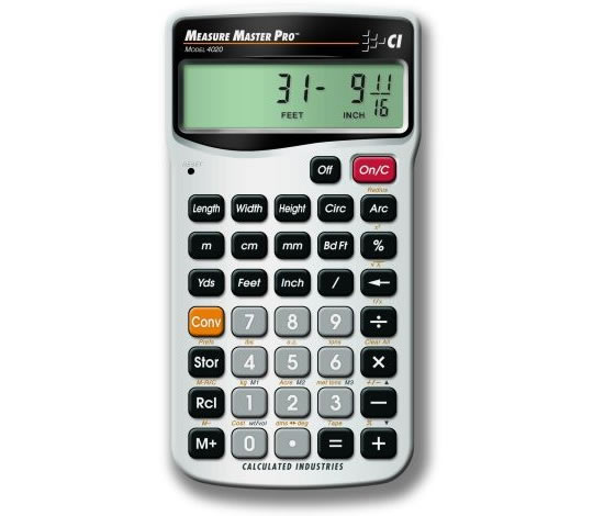 Calculator with Built-In Measurement Convertor