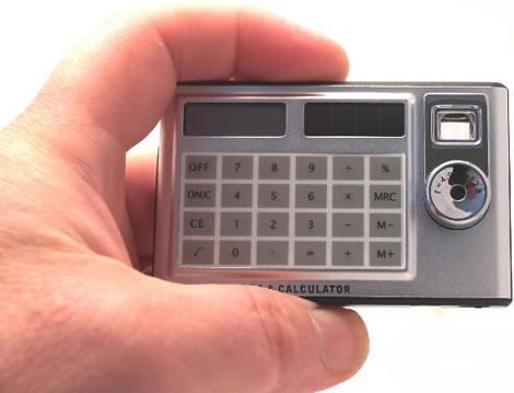 Digital Card Calculator Camera
