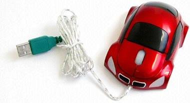 Car-Shaped USB Optical Mouse