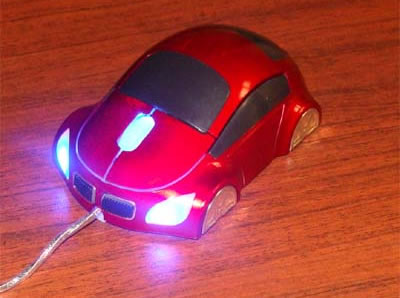 Car-Shaped USB Optical Mouse