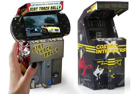 Cardboard Mini Arcade for PSP