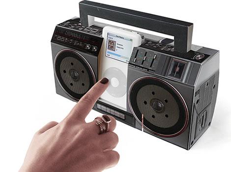 Cardboard MP3 Boombox