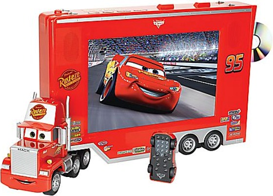pixar cars tv dvd with lightning mcqueen remote. Black Bedroom Furniture Sets. Home Design Ideas