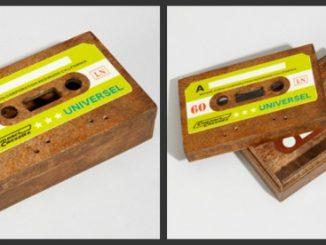 Wooden Cassette Tape Box