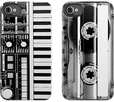 Keyboard and Cassette Tape iPhone 4/4S Cases