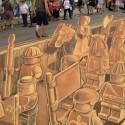 Chalk 3D Lego Army