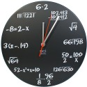 Chalkboard Pop Quiz Math Wall ClockWall