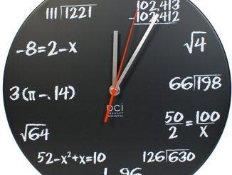 Chalkboard Pop Quiz Math Wall ClockWall