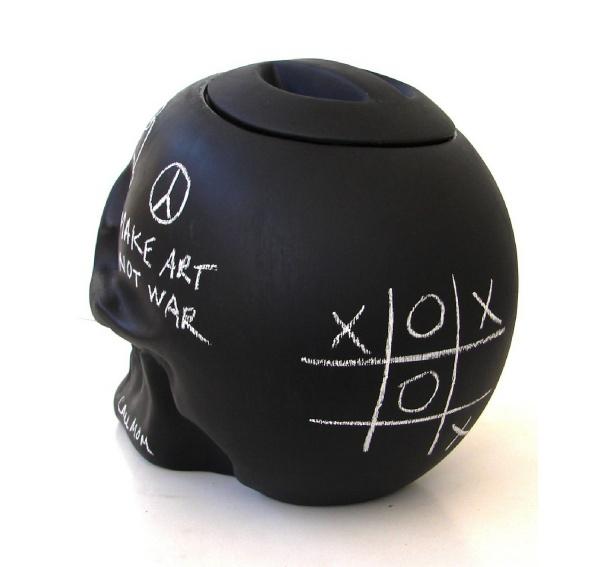 chalkboard skull