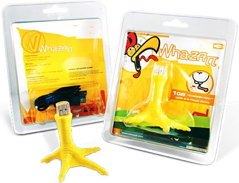 Chicken Foot 1GB USB 2.0 Flash Drive