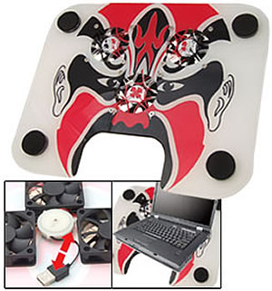 Chinese Opera Face Mask USB Laptop Cooling Pad