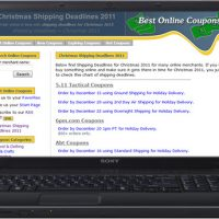 Christmas Shipping Deadlines 2011