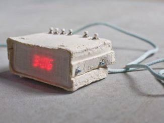 Digital Alarm Clock Made of Paper