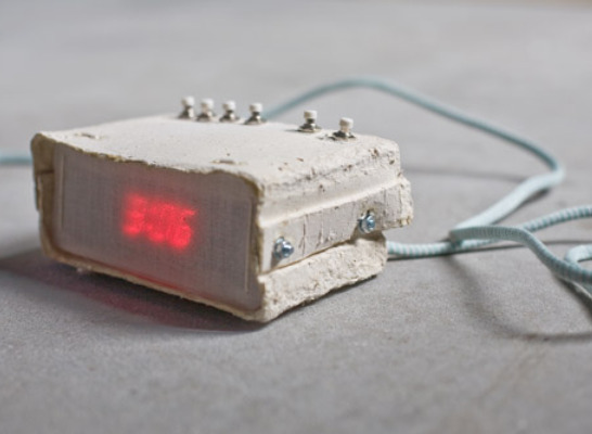 Digital Alarm Clock Made of Paper