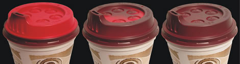Heat Indicating Coffee Lid