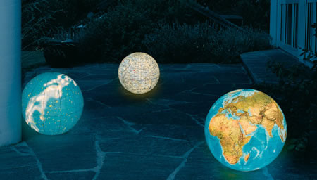 Illuminated Outdoor Globes Earth Moon Amp Stars