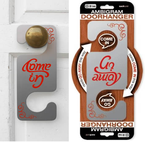 Come In Go Away Door Hanger