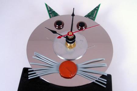 Computer Cat Wall Clock