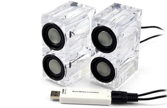 Crystal USB Desktop Speakers