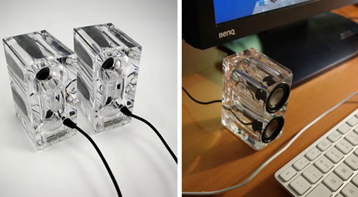 Crystal USB Desktop Speakers