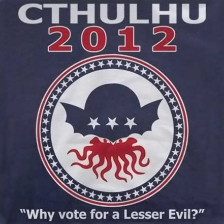 Cthulhu 2012 Election T-Shirt