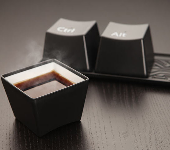 ctrl alt del coffee cup and mug set