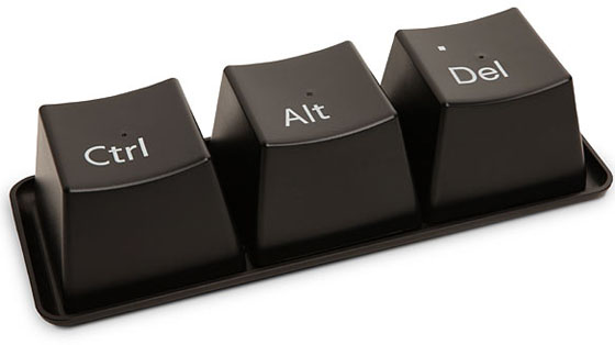 ctrl alt del computer button cup set and tray