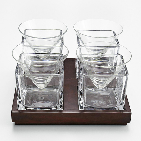 Cubist Martini Glass Set
