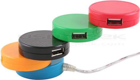 USB Cylinder 4-Port Hub