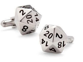 d20 Polyhedral Dice Cufflinks