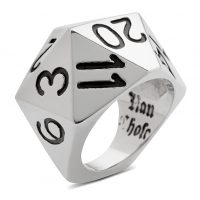 d20 Polyhedral Dice Ring