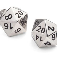 d20 Polyhedral Dice Stud Earrings