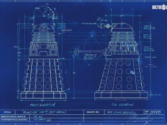 dalek blueprint poster