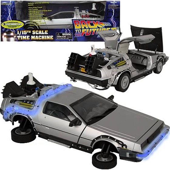 Here's a video clip of the back to the future delorean in action