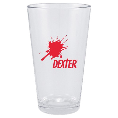 Dexter Blood Splat Pint Glass