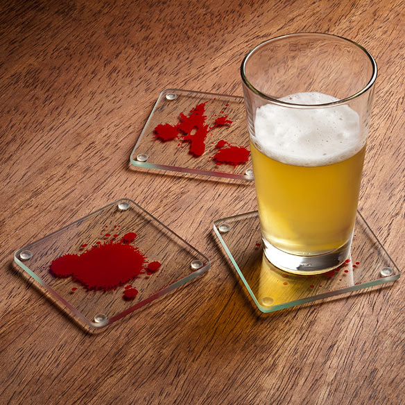 Dexter Blood Spatter Drink Coasters