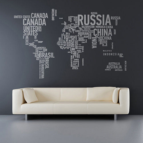 A different world wall stickers for Decoration autocollant mural